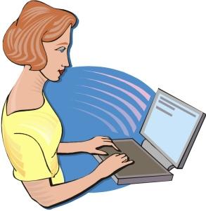 laptop-woman-typing