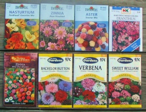 Butterfly flower seed packets