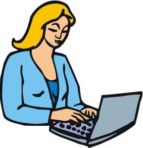 computer, woman4