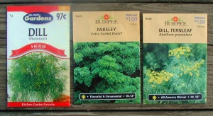 Parsley, Dill Seed Packets